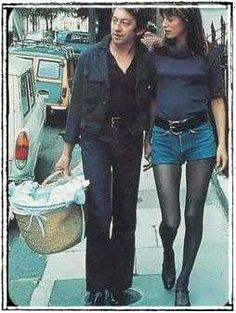 Jane Birkin on the Street Jane Birkin Style, Serge Gainsbourg, Vogue, French Actress, French Girls, French Chic, Hot Pants, Charlotte, Vintage Fashion