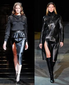 Monica Rose: Leather skirts