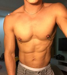 Nipples twink Naked male
