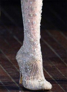 Beautiful fabric boots.