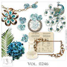 Vol. 0246 Vintage Mix by Doudou Design #CUdigitals cudigitals.com cu commercial digital scrap #digiscrap scrapbook graphics