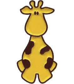 "Wrights Especially Baby Iron-On Appliques-Yellow/Brown Giraffe 2""X4"" 1/Pkg at Joann.com"