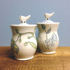 Bird Lid Jars
