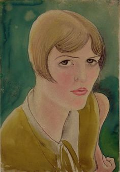 """Kurt Günther (German, 1893-1955), watercolor on paper, 1926?. Gunther's work was considered """"degenerate"""" by the Nazis."""