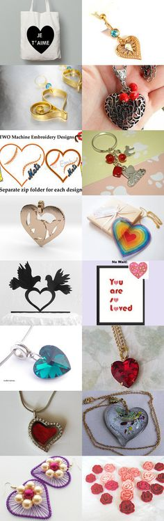 Lovely  heart by Verofibre on Etsy--Pinned+with+TreasuryPin.com