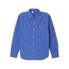 BARNS OUTFITTERS BR-4965 LITTLE COLLAR LONG SLEEVE OXFORD BUTTON DOWN SHIRTS (BLUE)