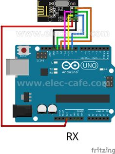 nRF24L01+ Wireless Temperature Monitoring DS18B20 Arduino UNO   Elec-Cafe.Com