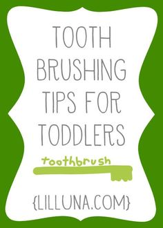 Tooth Brushing Tips for Toddlers { lilluna.com }