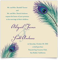 Art peacock wedding invitation peacockwedding Products I Love