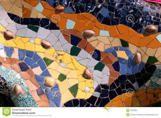 Gaudi's Park Guell In Barcelona - Mosaic Stock Images - Image: 1503684