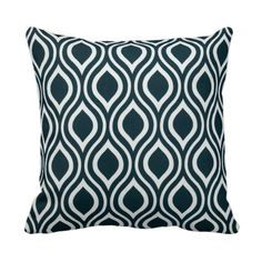 READY TO SHIP 14x14 Navy and White Outdoor by PrimalVogueHomeDecor