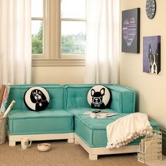 Trendy Furniture Decor Ideas for Teen Living Room by Pbteen, Best of Living Room, Stylish Blue Cushy Lounge and Black and White Exciting Round Cushion My New Room, My Room, Teen Lounge, Hangout Room, Trendy Furniture, Lounge Furniture, Upcycled Furniture, Furniture Decor, Bedroom Furniture