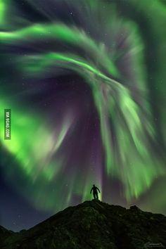 The aurora over Norway last night