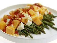 Grilled Asparagus and Melon Salad recipe from Giada De Laurentiis via Food Network