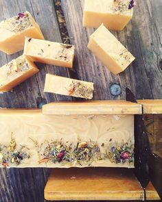 "Our new fall signature soap ""WEST COAST"" LEMONGRASS CLOVE & VANILLA.  We  this bar so much we also offer it now in a salt soap! So Mmmmm! by saltrootssoapco"