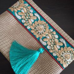 New Cheap Bags. The location where building and construction meets style, beaded crochet is the act of using beads to decorate crocheted products. Bohemian Bag, Boho Bags, Leather Clutch, Leather Handbags, Fancy Envelopes, Jewelry Design Earrings, Passementerie, Handmade Handbags, Cheap Bags