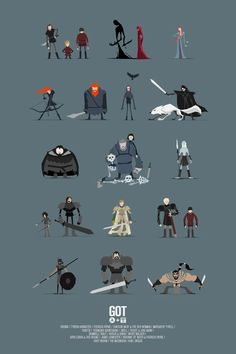 Game of Thrones character poster — First of an ongoing series of poster size art prints inspired by characters from Game of Thrones.