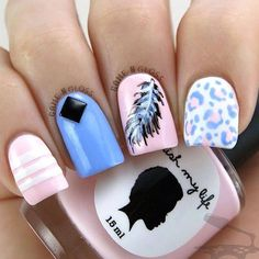There are plenty of ways where you can design feathers onto your nails. It can be on summer themes or even feathers in the winter times or holidays, take your pick! The great thing about feather nail art is that you can choose just about any type of theme and it can definitely fit.
