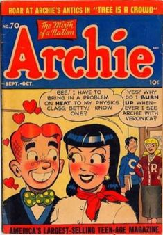 Archie 70, Archie Comic Publications, Inc. https://www.pinterest.com/citygirlpideas/archie/