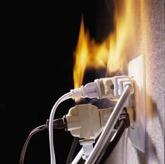 Check Your Electrical Outlets and Prevent Fire - News - Bubblews. I have just being listening to the radio where a story was recounted about a person whose house was burnt down by a fire started by loose connections in an electric socket. Electrical Problems, Electrical Safety, Electrical Outlets, Electrical Appliances, Installing Electrical Outlet, Science Electricity, Home Fix, Home Safety, Safety Tips