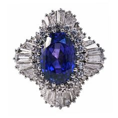 Sapphire and Diamond Ballerina Ring from Hatton Jewels