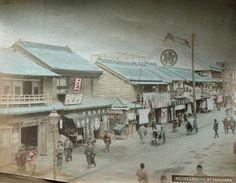Yokohama Street Scene c1880