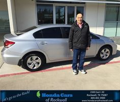 Happy Anniversary to Lou on your #Honda #Civic Sedan from Jim Rutelonis at Honda Cars of Rockwall!  https://deliverymaxx.com/DealerReviews.aspx?DealerCode=VSDF  #Anniversary #HondaCarsofRockwall