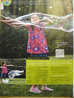 Make your own giant bubble maker - wand
