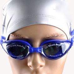 Adult AntiFog UV Shield Adjustable Summer Swimming Goggles with Earplug Blue >>> Want to know more, click on the image.Note:It is affiliate link to Amazon.