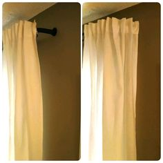Add the HUGAD corner to the curtain rods to keep light from creeping in. It is great for daytime naps and sleeping in!