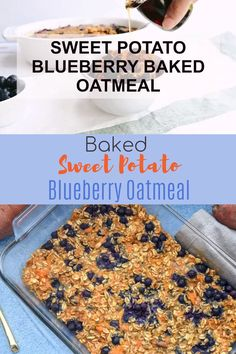 Have you been searching for the perfect easy baked oatmeal recipe that is healthy and delicious? This Sweet Potato Blueberry Baked Oatmeal is the perfect quick and nutritious breakfast option, great for an oatmeal meal prep dish. It's ready in 30 minutes, Healthy Baking, Healthy Snacks, Healthy Recipes, Brunch Recipes, Snack Recipes, Amish Recipes, Kitchen Recipes, Potato Recipes, Smoothie Recipes