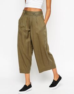 Image 1 of ASOS Drape Culottes with Utility Detail