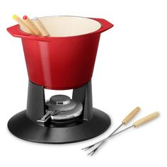 Le Creuset Cast-Iron Fondue Pot #williamssonoma