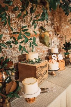 Dessert table decor. Navy, Copper + Cream wedding. Over the Rhine, Cincinnati, Ohio at Rhinegeist Brewery. Photography by: Lyell Photography, Florals by: Eve Floral Co.