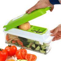 Hot Sale Home Kitchen 12PCS/1Set Multifunction Vegetable Shredder Machine Fruits Device Slicer Diced Green Artifact