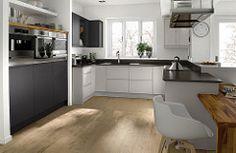 Horizon Graphite and Dove Grey kitchen #KitchenDesign #KitchenDesignIdeas #ModernKitchenDesign #KitchenDesignImages (Affiliate Link)