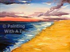 Sunset at the Beach - Hattiesburg, MS Painting Class - Painting with a Twist