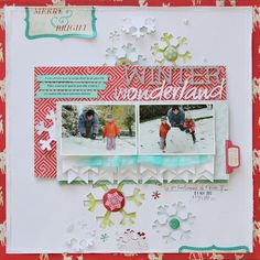 C'est la vie: { WInter Wonderland} #scrapbook #winter #layout
