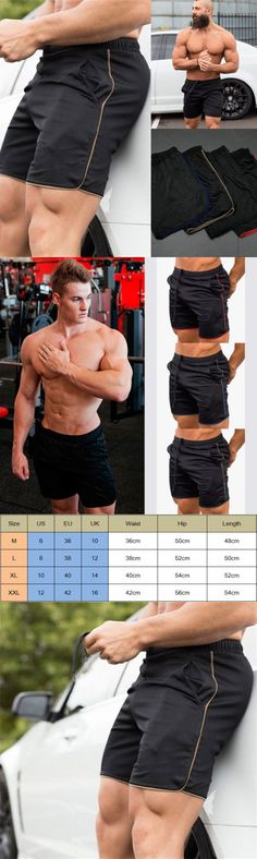 fb55ed5294f Shorts 15689: Usa Men Swim Fitted Shorts Bodybuilding Workout Gym Running  Tight Lifting Shorts -> BUY IT NOW ONLY: $10.99 on #eBay #shorts #fitted ...