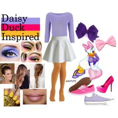 Daisy Duck Inspired Outfit by dedarihyang on Polyvore featuring Minuet Petite…