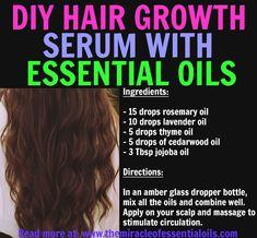 Natural Remedies For Hair Growth DIY Essential Oil Hair Growth Recipe