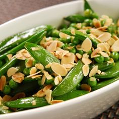 Sesame Pea Salad, a recipe from ATCO Blue Flame Kitchen's Holiday Collection 2005 cookbook.
