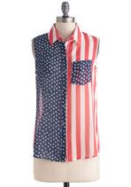 #fourth of #july button-down tank top