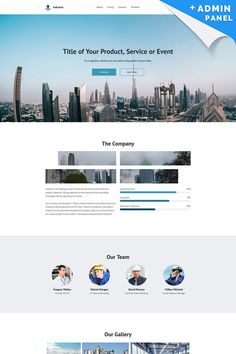 Industrix - MotoCMS 3 Landing Page Template #65027