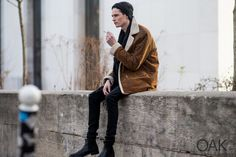 Dress to express, not to impress coat jacket tumblr Style men beanie streetstyle