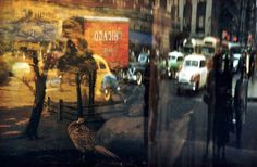 ERNST HAAS, Reflection—42nd Street, NY 1952