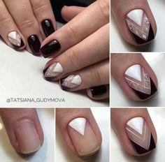 Red Nails, Hair And Nails, Uñas Diy, Lines On Nails, Geometric Nail, Super Nails, Nagel Gel, Beautiful Nail Designs, Nail Art Diy