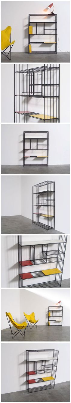Industrial metal wall unit