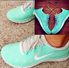 promo code 8c38d 1d02b New Womens Nike Free Run 3.0 V4 Mint Green Tropical Twist Tiff Shoes Sz 8  Blue