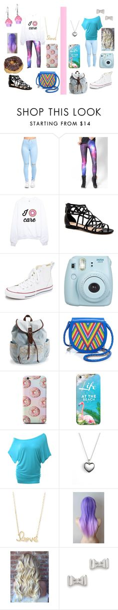 """""""Left or Right?"""" by sparklestache ❤ liked on Polyvore featuring WithChic, Converse, Aéropostale, Lili Radu, Casetify, Doublju, Pandora, Sydney Evan and Marc by Marc Jacobs"""